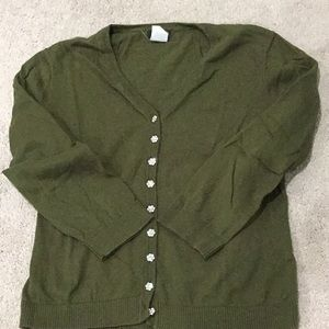 J Crew cardigan with beautiful buttons